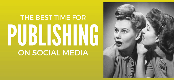 The best time for publishing on social media - Featured Image