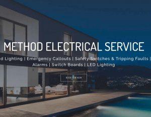 Electrical Services Web Design - Elegant