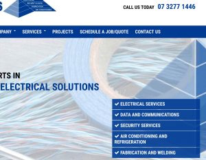 Electrician and Electrician Service Web Design - Mobile Optimised
