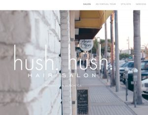 hair salon web design sample - grey