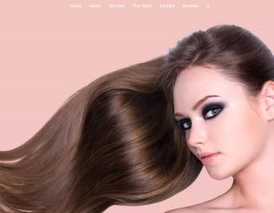 hair salon web design sample - pink