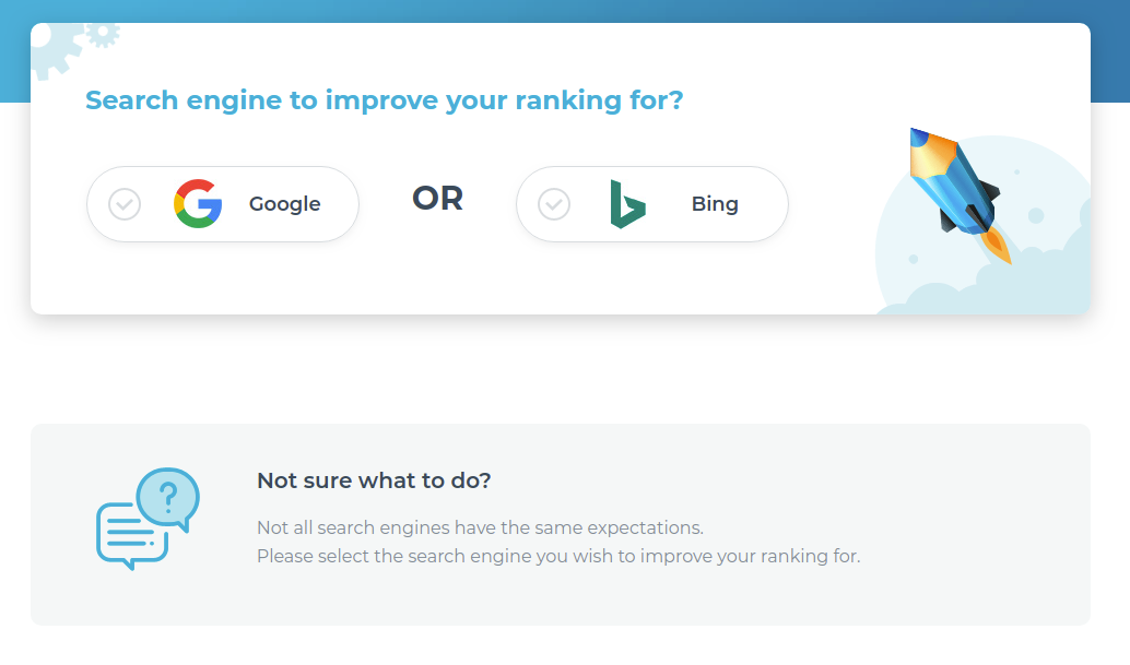 1 Choose a Search Engine you want to use in Text Optimizer
