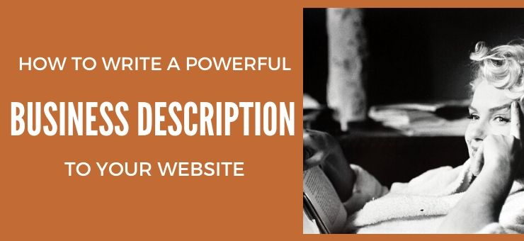 How to Write a Powerful Business Description to Your Website